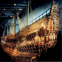 El Vasa reflotado y en el museo