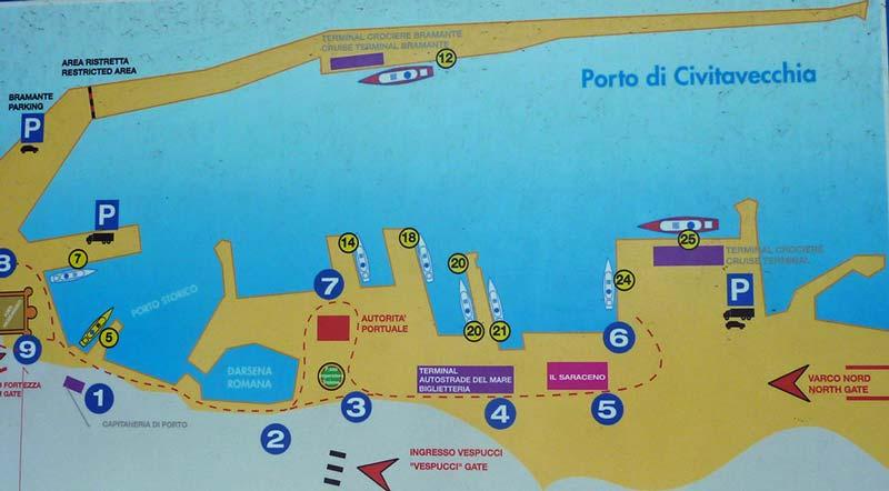 Port map civitavecchia photo gallery - Train from rome to port of civitavecchia ...