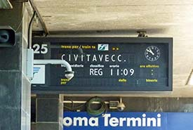 how to take train from civitavecchia to rome