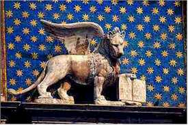 Torre dell'Orologio Winged Lion of St. Mark Venice